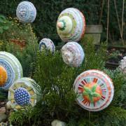 disques décoratifs en mosaïque