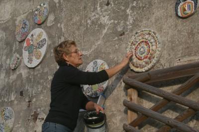 Ateliers avec des enfants - Réalisation de disques en bois